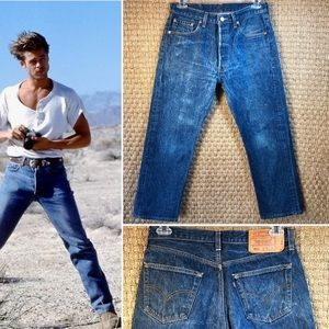 Vintage 90s USA LEVIS 501 Jeans 33x28 Distressed
